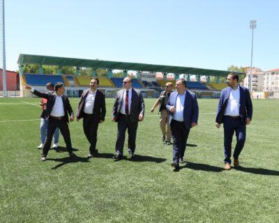 Ankara Gençlik Ve Spor Müdürü Çelik Çubuk'ta İncelemelerde Bulundu