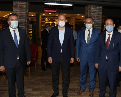 İçişleri Bakanı Soylu, Çubuk İlçesini Ziyaret Etti