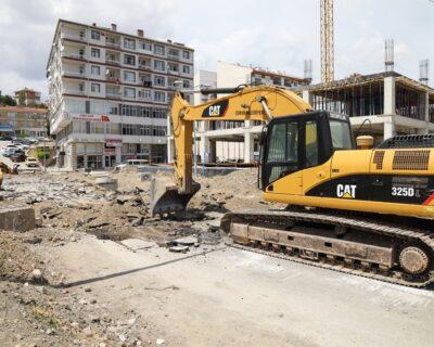 Cengiz Topel Caddesinde Çalışma Başladı