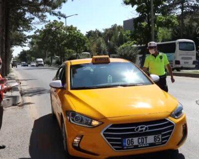 Çubuk'ta toplu taşıma araçlarında Kovid-19 denetimi