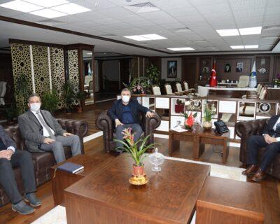 AYBÜ Meslek Yüksekokulu Müdürü Yiğit'ten Çubuk Belediye Başkanı Demirbaş'a Ziyaret