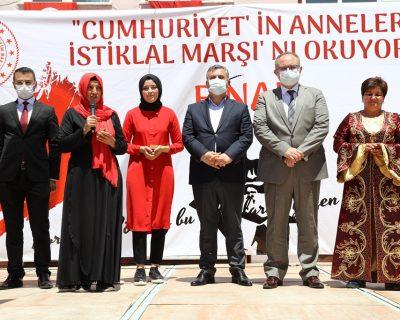 """İlçemizde """"Cumhuriyetin Anneleri İstiklal Marşı'nı Okuyor"""" yarışması gerçekleştirildi."""