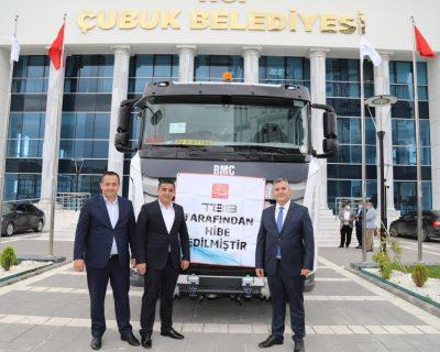 Türkiye Belediyeler Birliği, Çubuk Belediyesine tanker hibe etti